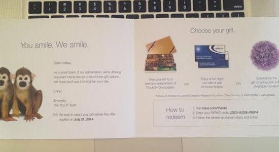Telus flyer gift offer